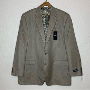 Chaps RL Tan sports blazer jacket Men's size 48 L